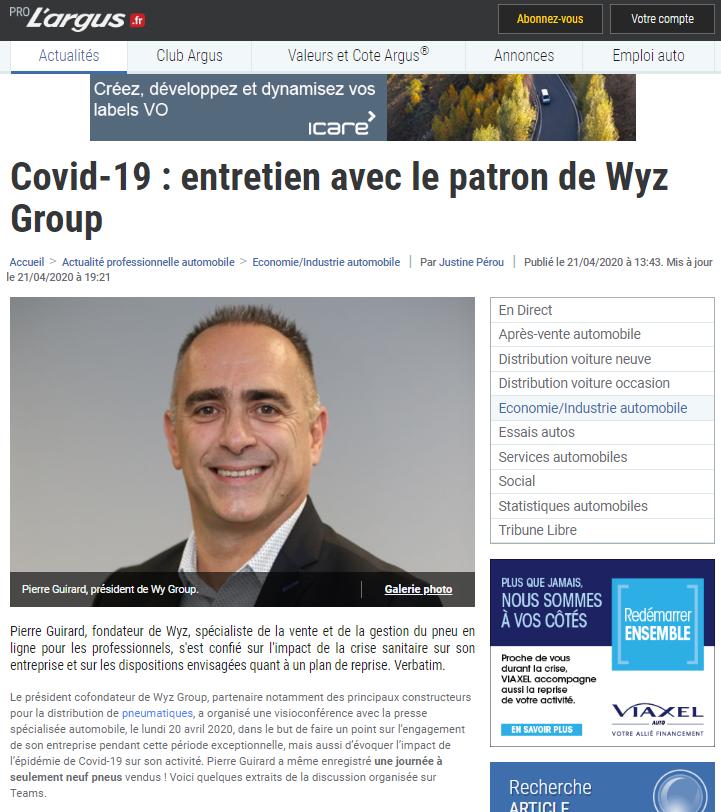 Entretien WYZ Pierre Guirard