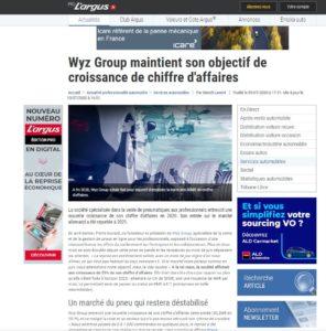 WYZ Group maintient son chiffre d'affaires